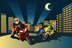 Pilotos da motocicleta Fotografia de Stock Royalty Free