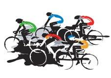 Pilotos de ciclismo da estrada Fotos de Stock