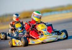 Pilotos de Kart Fotografía de archivo