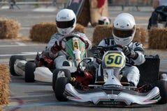 Pilotos de Kart Fotografia de Stock Royalty Free