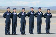 Pilotos de los Thunderbirds de la fuerza aérea de Estados Unidos Fotografía de archivo libre de regalías