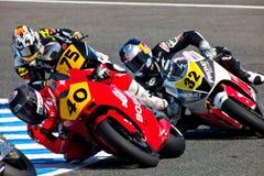 Pilotos de Moto2 del campeonato de CEV Imagen de archivo libre de regalías