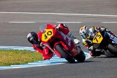 Pilotos de Moto2 del campeonato de CEV Foto de archivo