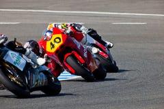 Pilotos de Moto2 del campeonato de CEV Imagen de archivo