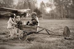 Pilotos jovenes Imagen de archivo libre de regalías