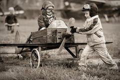 Pilotos jovenes Fotos de archivo