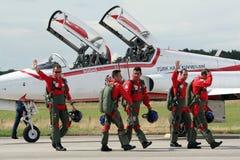Pilotos turcos de las estrellas Imagen de archivo