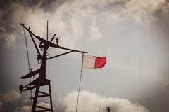 Pilotowa flaga na maszcie Obraz Royalty Free