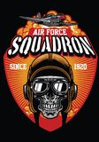 Pilotowa siły powietrzne eskadra ilustracja wektor