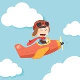 Pilotowy chłopiec majcher ilustracja wektor