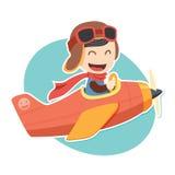 Pilotowy chłopiec majcher Fotografia Stock