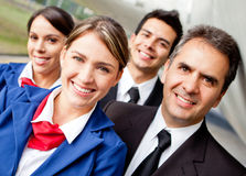 Pilots and air hostesses Royalty Free Stock Photo
