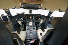 Pilots in aircraft cockpit Stock Images