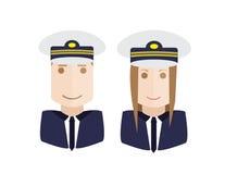 Pilots avatars set Royalty Free Stock Photo