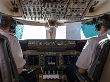 Pilots in Cockpit Stock Image