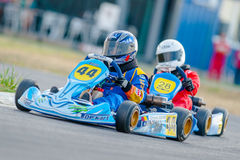 Pilots competing in National Karting Championship Royalty Free Stock Image