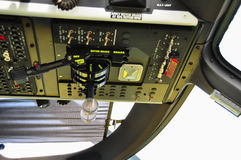 The pilots' control panel inside a passenger airplane, Control panel of airplane Royalty Free Stock Images