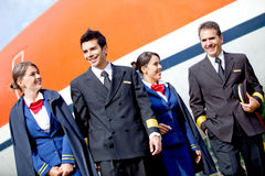 Pilots and flight attendants Royalty Free Stock Image