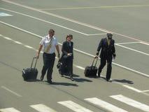 Pilots and flight attendants in Ostrava Royalty Free Stock Photo