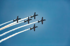 Pilots Flying in Formation Stock Photography