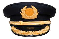 Pilots hat isolated Royalty Free Stock Photos