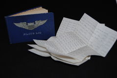 Pilots log book Stock Image
