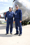 Pilots at MAKS International Aerospace Salon MAKS-2017 Stock Image