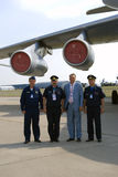 Pilots at MAKS International Aerospace Salon Royalty Free Stock Photo