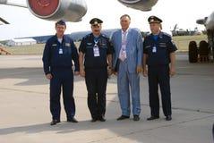 Pilots at MAKS International Aerospace Salon Royalty Free Stock Image