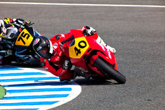 Pilots of Moto2  of the CEV Championship Stock Image