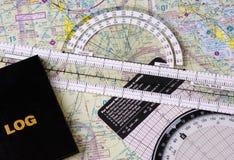 Pilotâs Navigationsgang Stockbild
