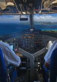 Pilots over tropical islands Stock Photography