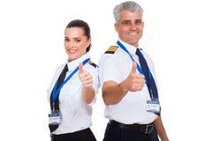 Pilots thumbs up Royalty Free Stock Photos