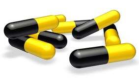 Pils ou tabuletas Imagens de Stock