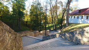 Pils park. In Cesis Royalty Free Stock Photography