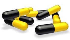 Pils of tabletten Stock Afbeeldingen