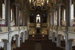 Pilsen el gran interior de Sinagogue Fotografía de archivo