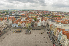 Pilsen the main or central city square, urban view. Royalty Free Stock Photography