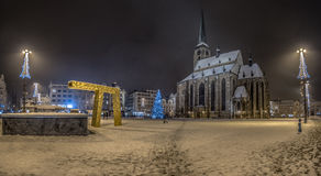 Pilsen Main Square Royalty Free Stock Images