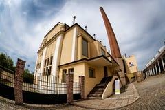 PILSEN PLZEN, REPÚBLICA CHECA - 22 DE MAYO DE 2017: Cervecería de Pilsner Urquell Imagenes de archivo