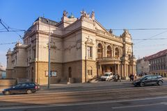 Pilsen, republika czech - 02/08/2018: JK Tyl Theatre Obrazy Stock