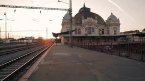 Pilsen Train Station. Footage of Pilsen Train Station stock footage