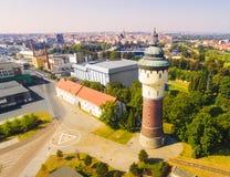 Pilsener browar i średniowieczny centrum Pilsen Fotografia Stock