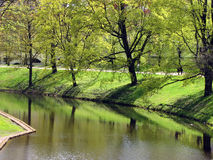 Pilsetas Canal in Riga royalty free stock images