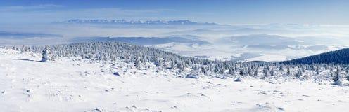Pilsko - une vue du Tatry Photos libres de droits