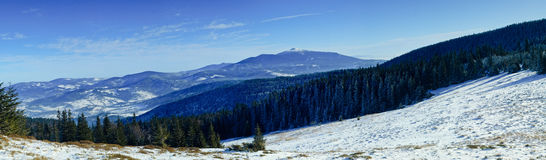 Pilsko - a view of the Babia Gora royalty free stock image