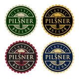 Pilsner Beer. Badge & Labels. EPS 10 file and large jpg included Royalty Free Stock Image
