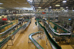 Pilsner Urquell Bottling Plant Royalty Free Stock Photography