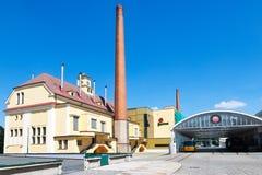 Pilsner Urquell bryggeri från 1839, Pilsen, Tjeckien Royaltyfri Fotografi