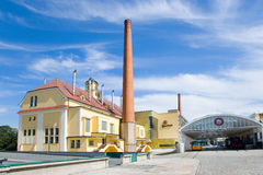 Pilsner Urquell bryggeri, Pilsen, Bohemia, Tjeckien Arkivbild